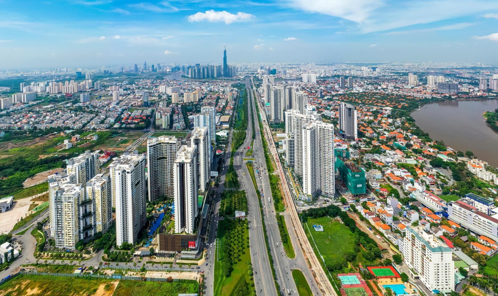 Trục đường có nhiều dự án căn hộ cao cấp tại Tp.HCM