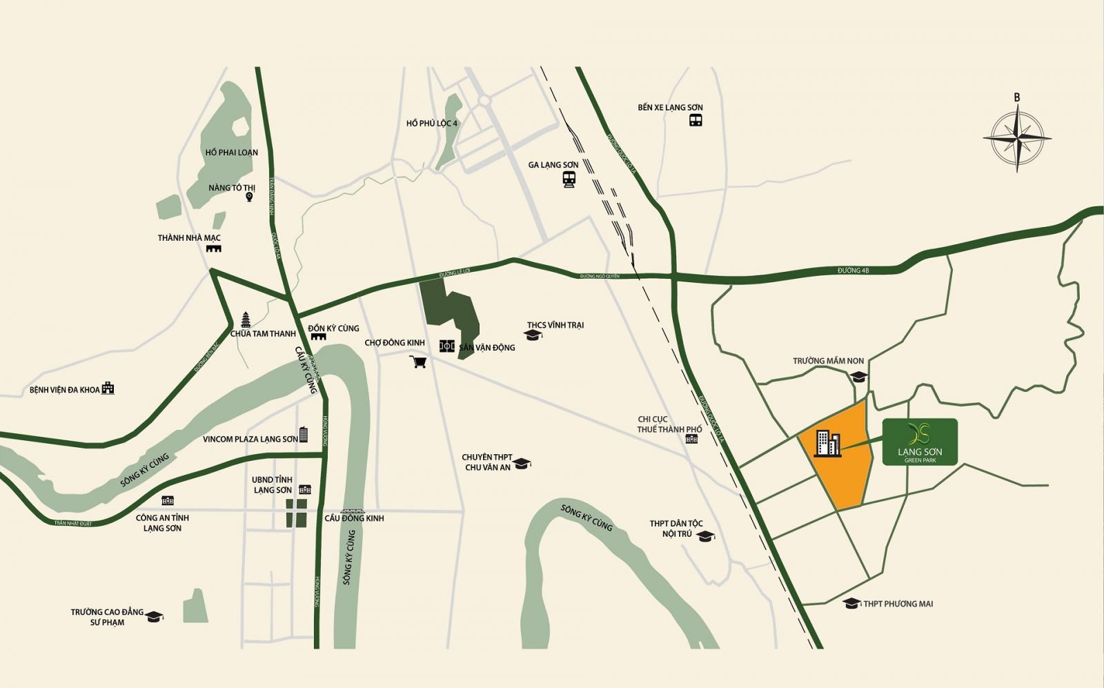 Vị trí dự án Lạng Sơn Green Park
