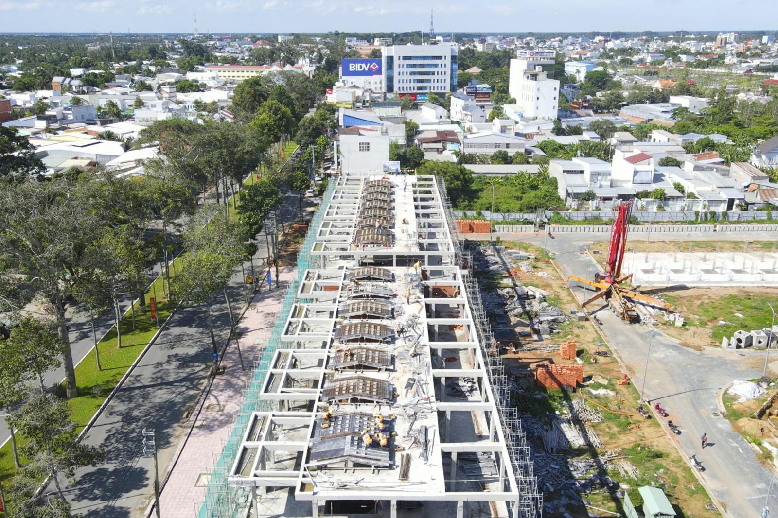 công trường dự án đang xây dựng