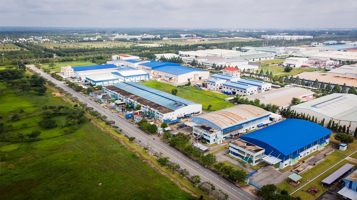 Khu công nghiệp nhìn từ trên cao