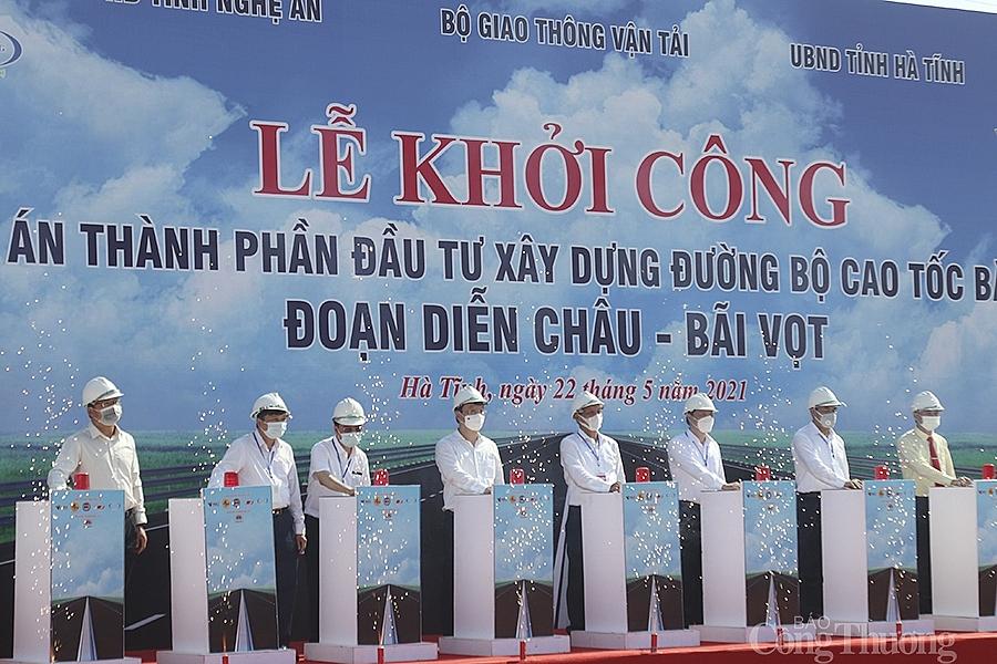 Lễ khởi công dự án cao tốc đoạn Diễn Châu - Bãi Vọt