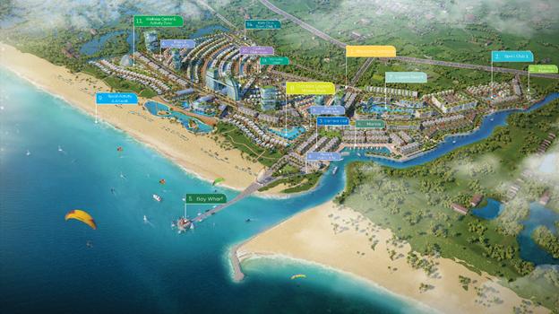 dự án ven biển nhìn từ trên cao