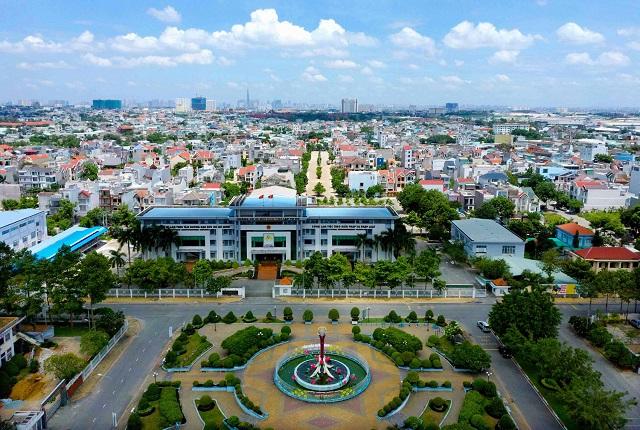 trung tâm thành phố với nhiều nhà ở