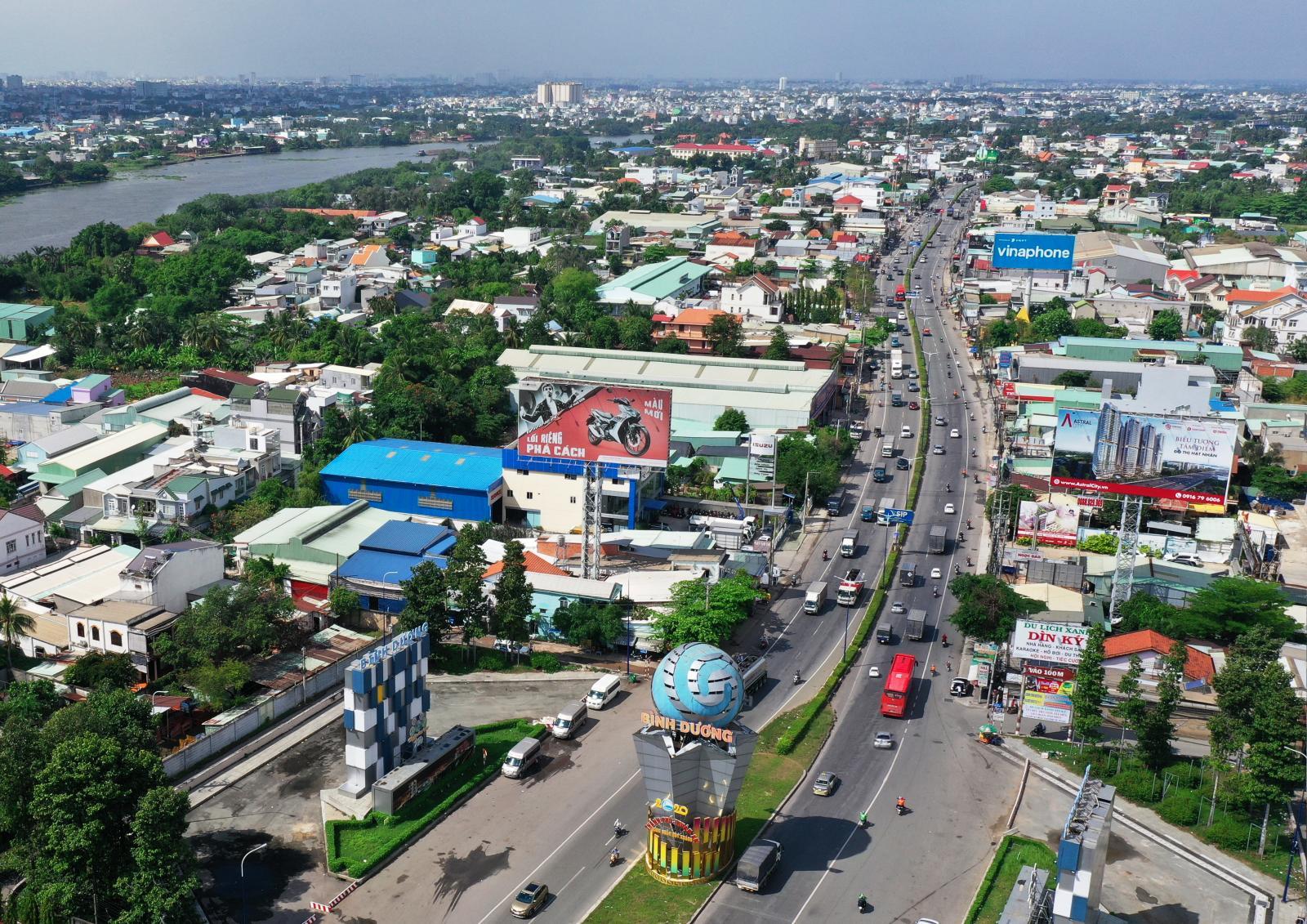 Thành phố Thuận An trên cao