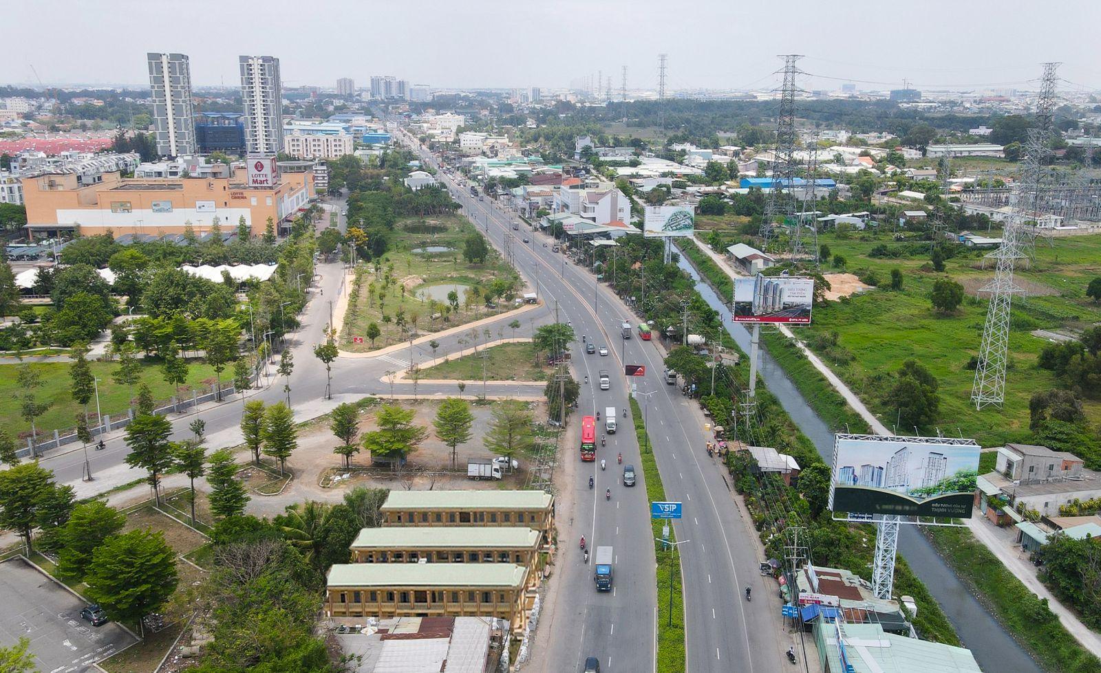 Nhiều cung đường ở Thuận An đang được mở rộng