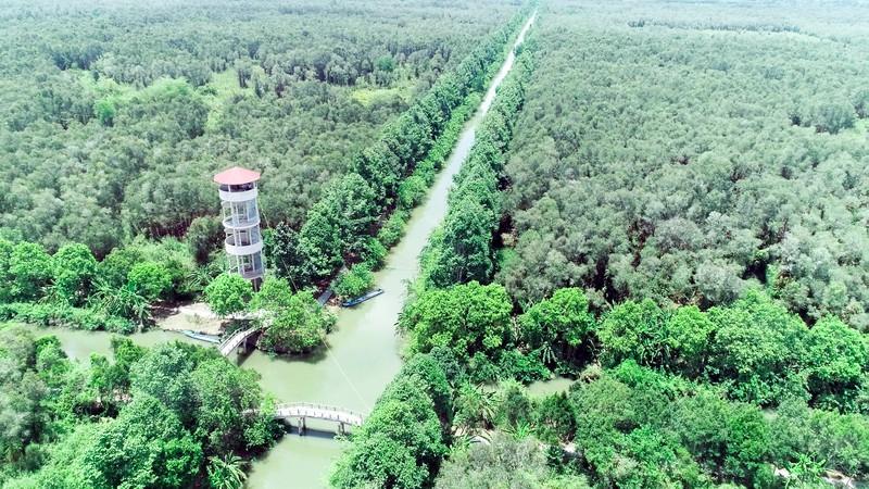 khu bảo tồn thiên nhiên với rất nhiều cây xanh