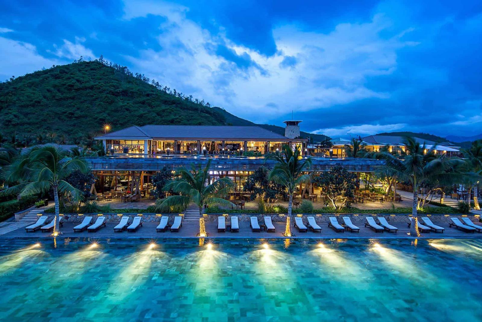 Ảnh chụp toàn cảnh một khu resort đẹp