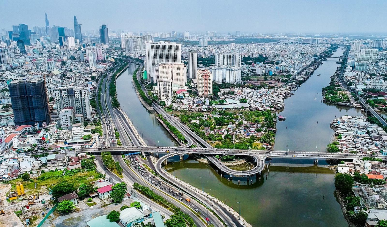 Quận 4 Thành phố Hồ Chí Minh từ trên cao