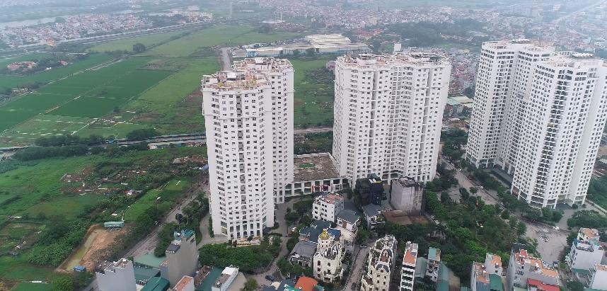 6 tòa nhà cao tầng nằm cạnh nhau