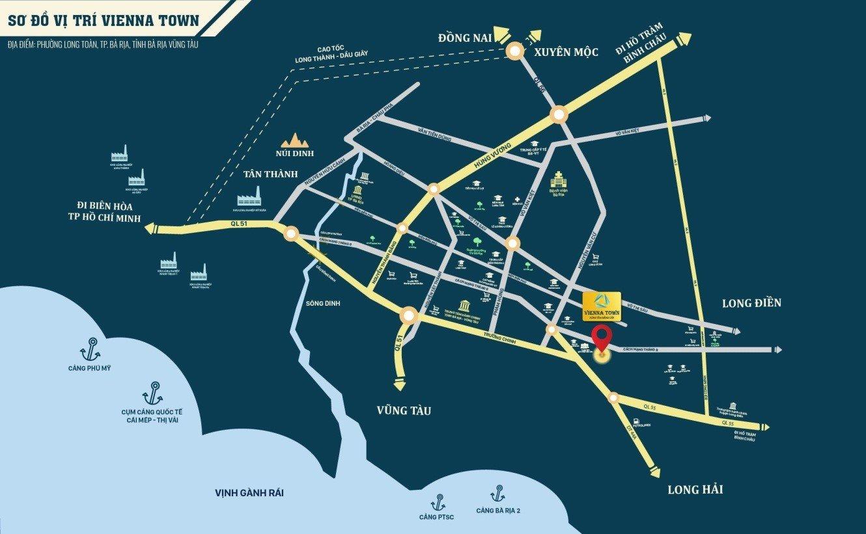 Sơ đồ vị trí dự án Vienna Town