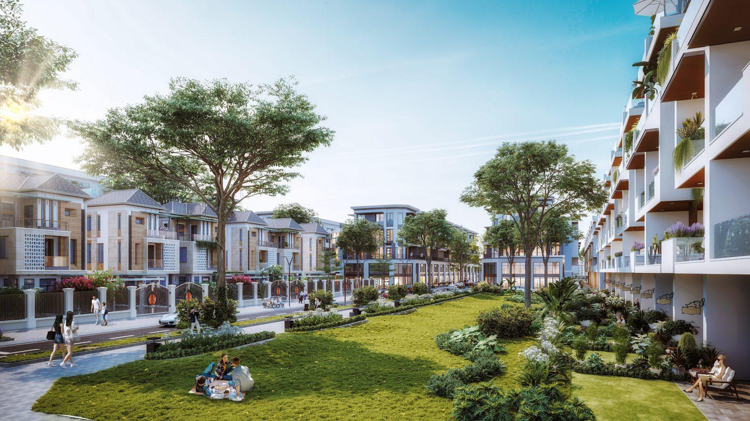 Phối cảnh tổng thể không gian nội khu dự án Quảng Hưng Central Point