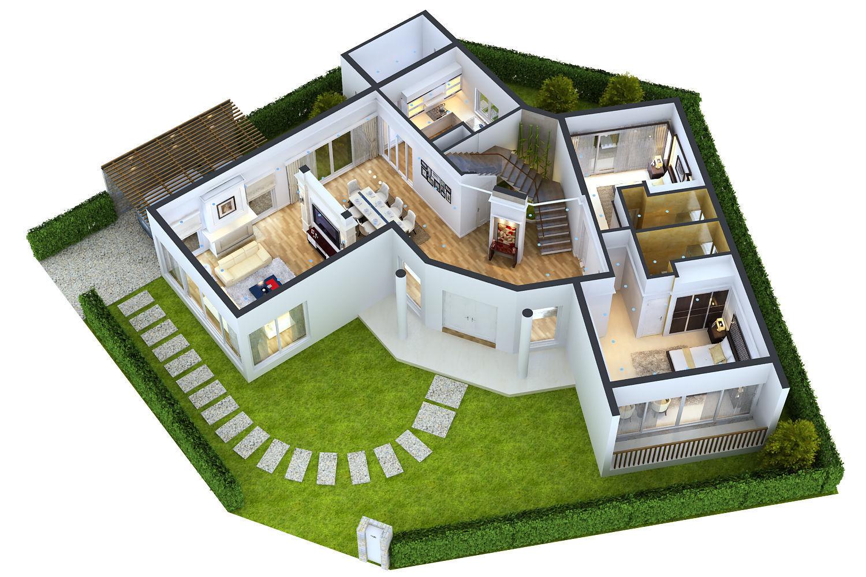 Một mảnh đất thóp hậu đã được gia chủ sử dụng thiết kế nhà vườn để cân bằng yếu tố thẩm mỹ