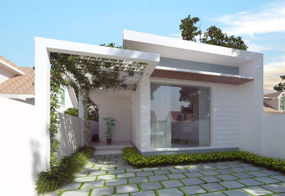 ngôi nhà xây trên mảnh đất vuông vắn
