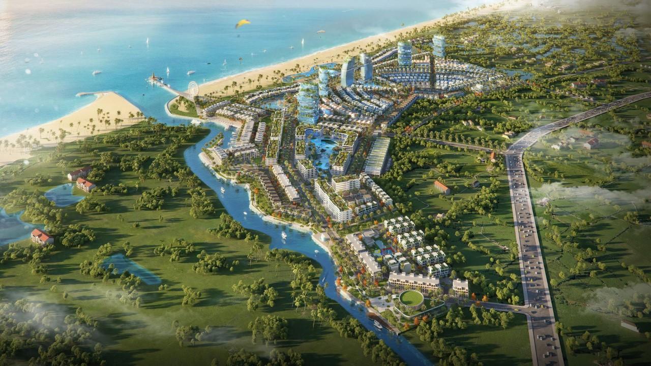 Phối cảnh dự án bất động sản nghỉ dưỡng ven biển