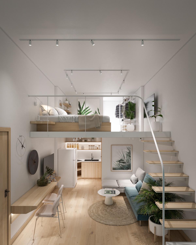 Cầu thang tầng trệt