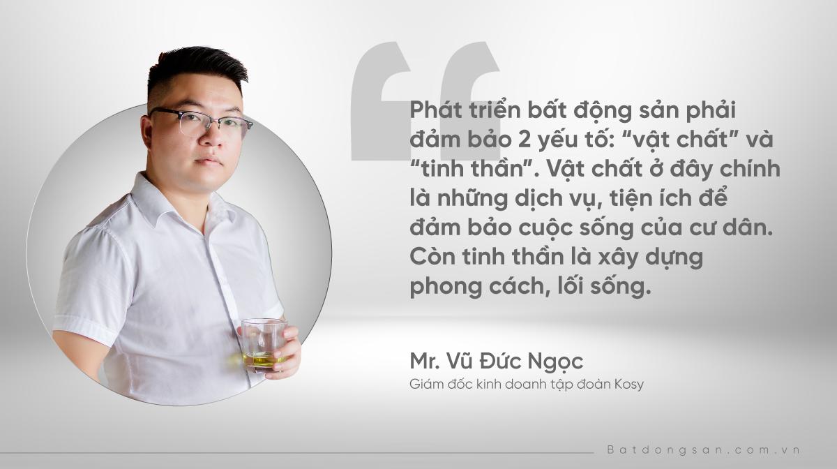 hình ảnh ông Vũ Đức Ngọc, Giám đốc kinh doanh tập đoàn Kosy