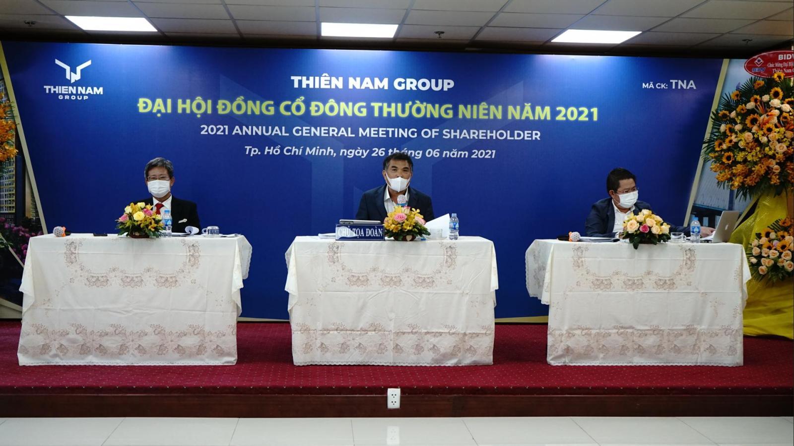 Các chủ tọa tại Đại hội đồng Cổ đông Thường niên năm 2021 của Thiên Nam Group