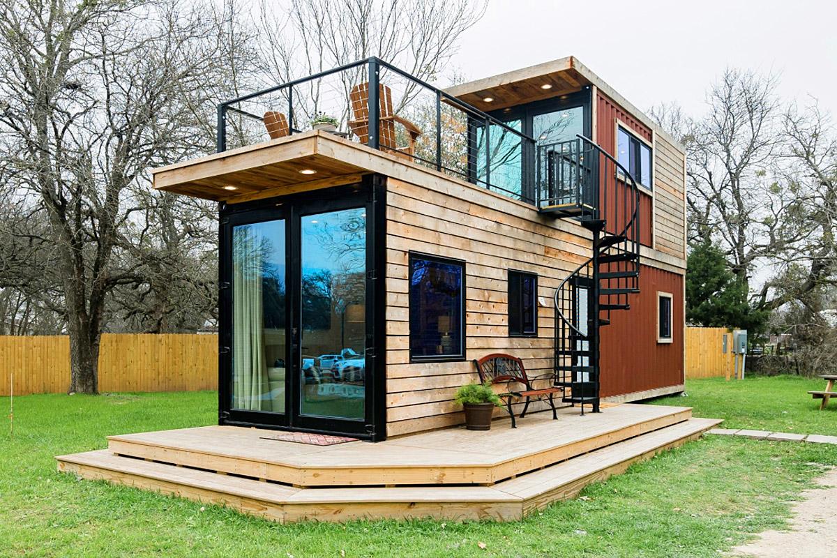 mẫu nhà container bằng gỗ đẹp