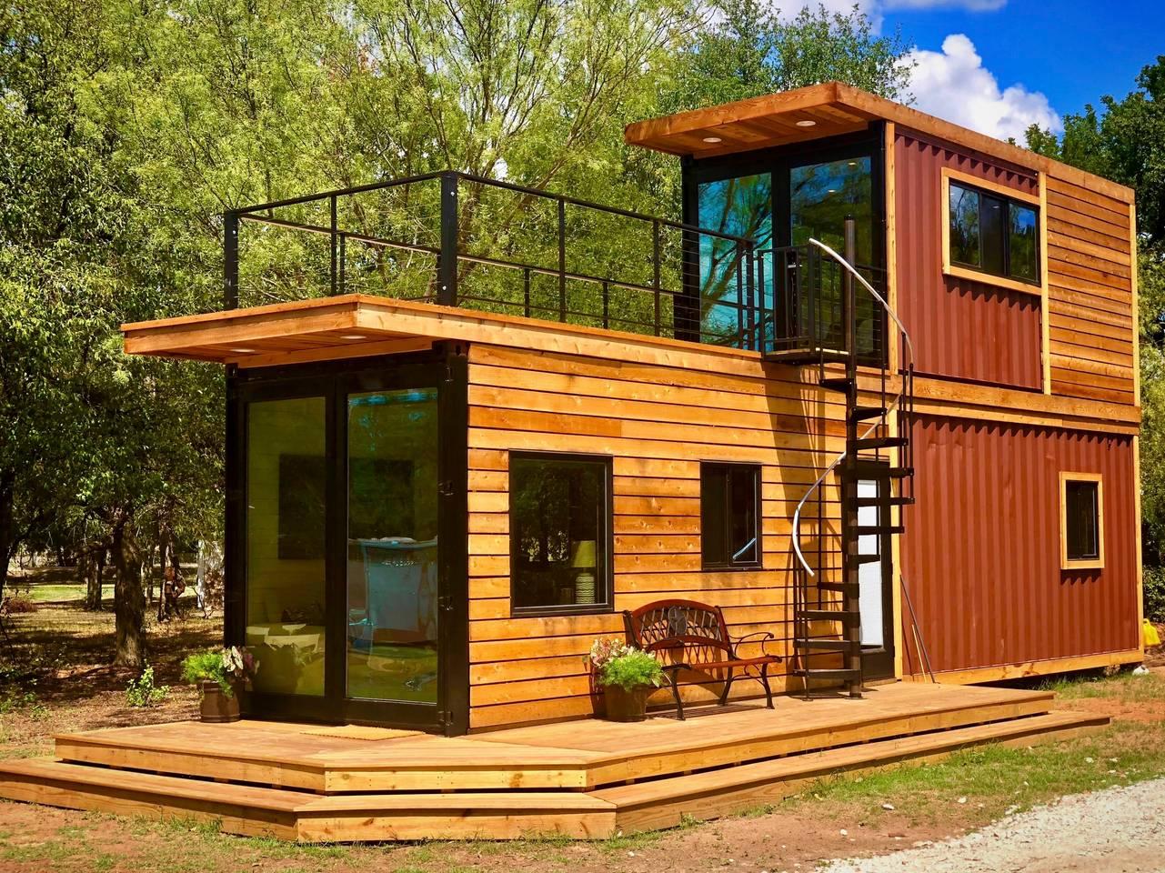 Mẫu nhà container gỗ đẹp nhất