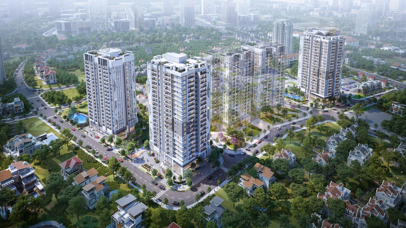 Phối cảnh dự án BerRiver Jardin Long Biên