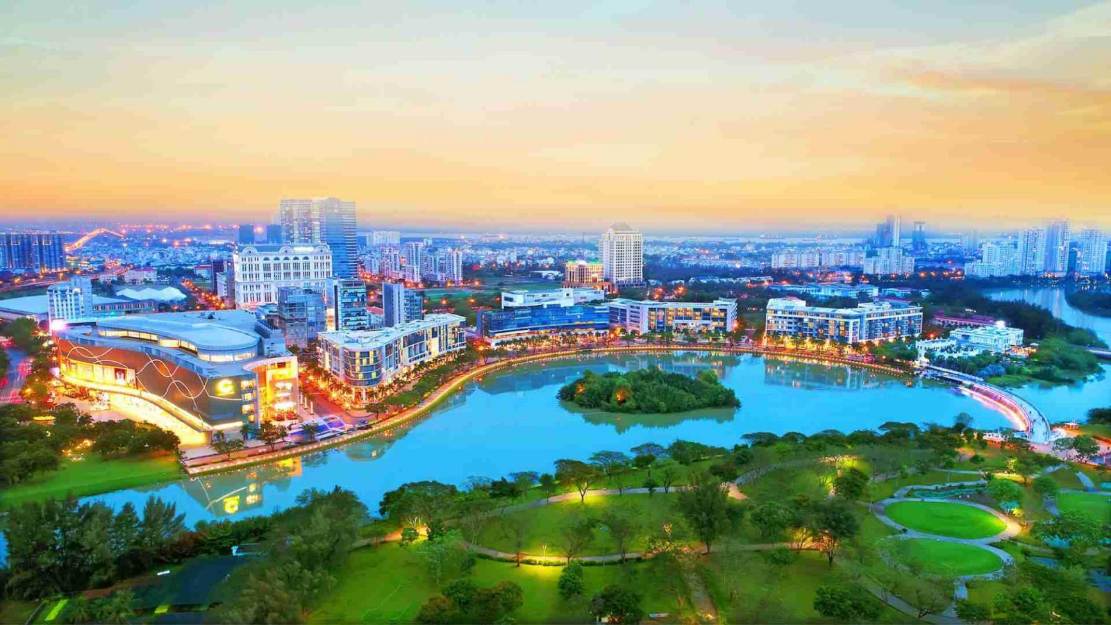 Phường Tân Phong Quận 7 nhìn từ trên cao