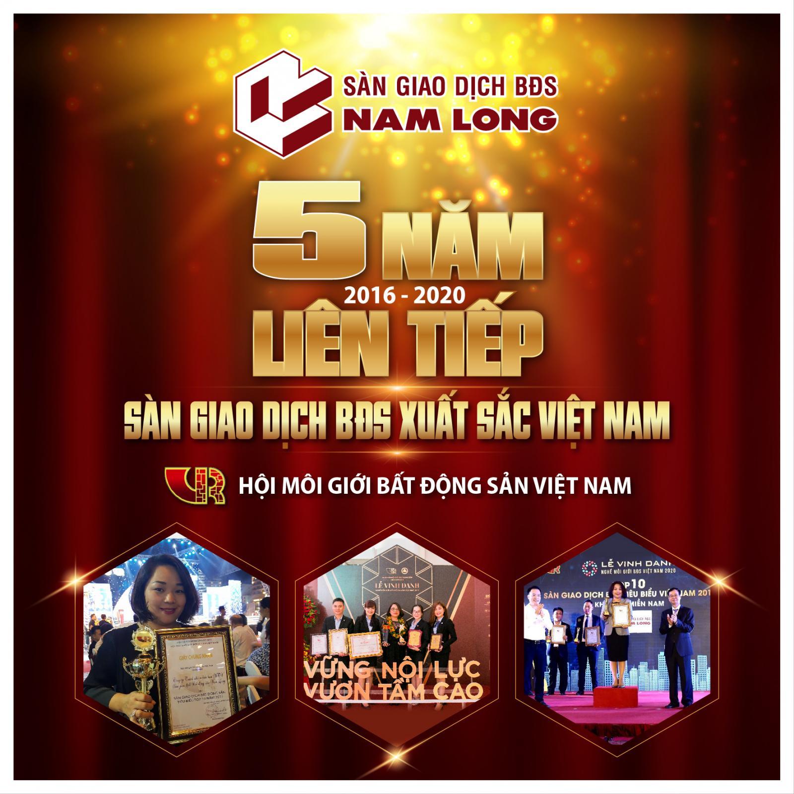 Nam Long đạt giải sàn giao dịch bất động sản xuất sắc