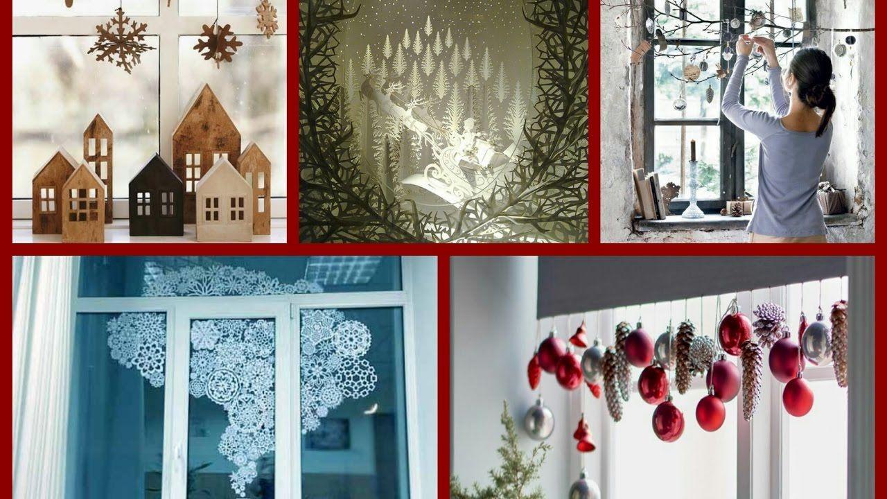 Một số ý tưởng trang trí cửa sổ nhân dịp Giáng Sinh