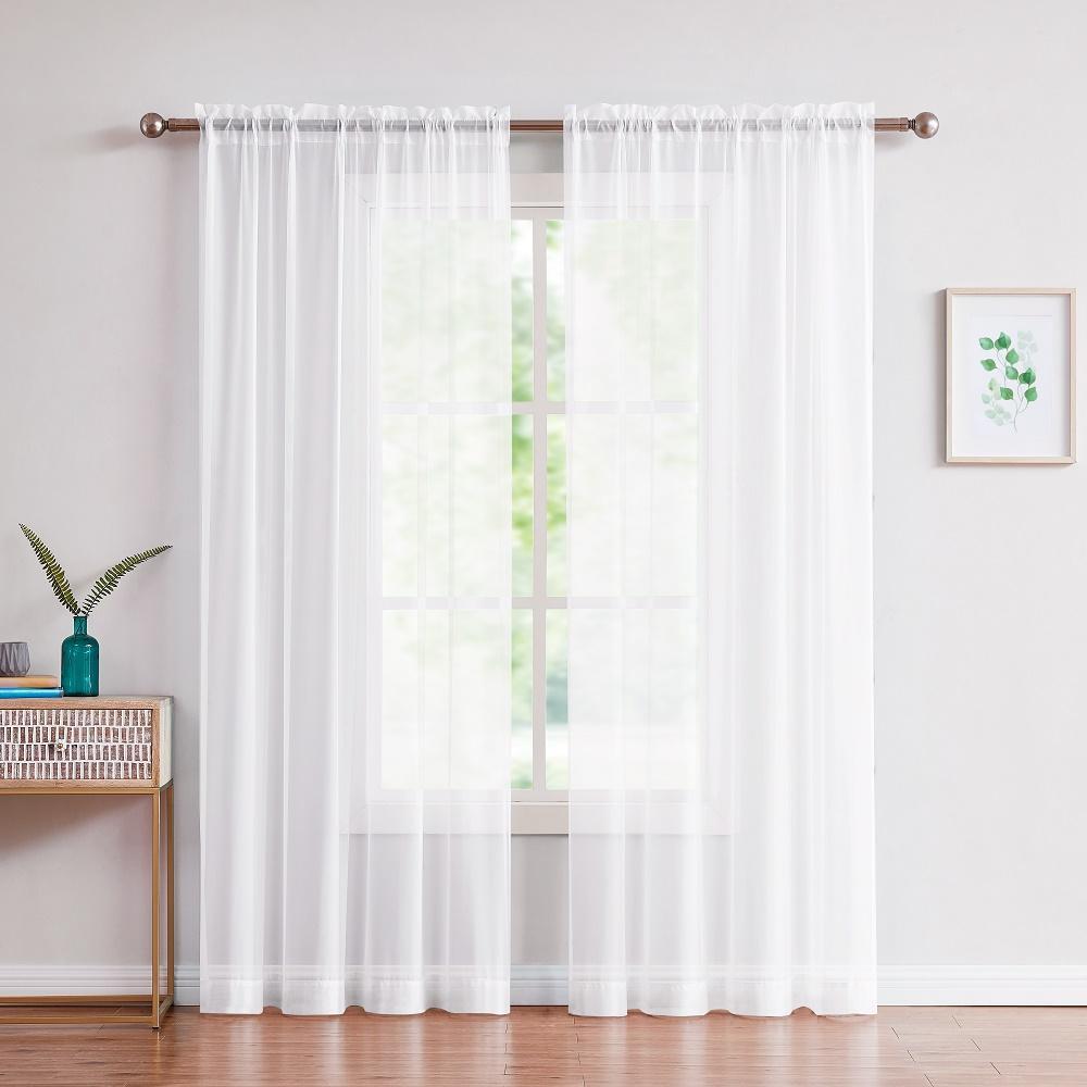 mẫu rèm cửa sổ vải voan trắng