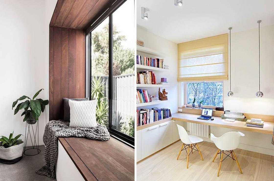 thiết kế phần bệ cửa sổ thành chỗ ngồi ngả lưng, thư giãn