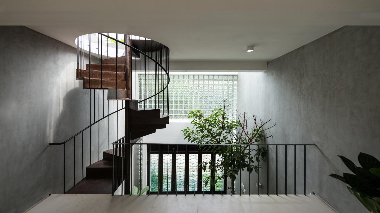 Thiết kế cầu thang xoắn ốc đẹp
