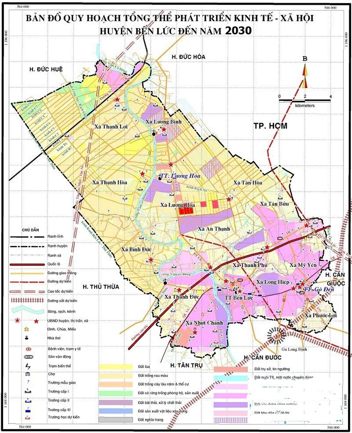bản đồ quy hoạch huyện bến lức