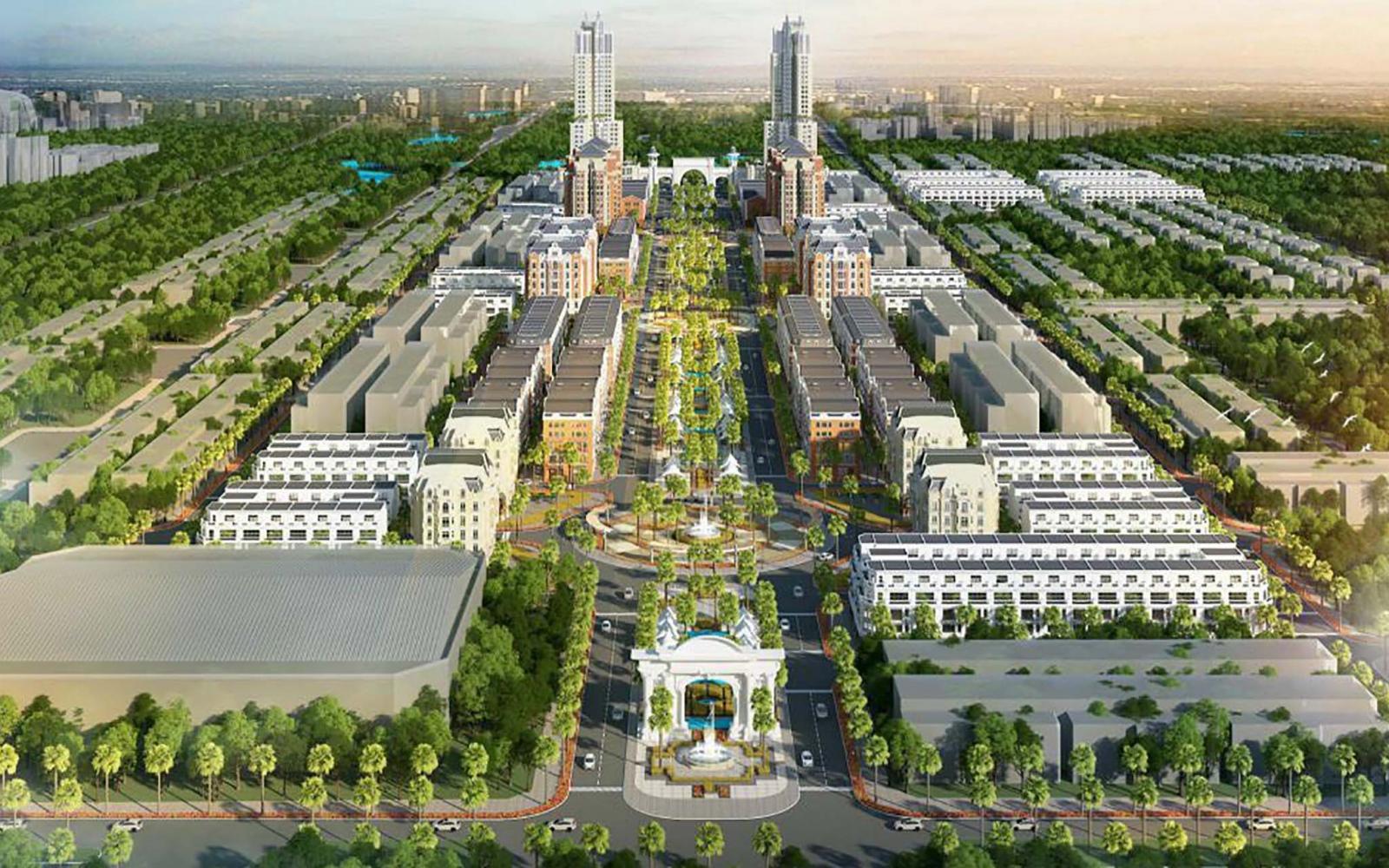 Phối cảnh khu đô thị phía Nam TP. Bắc Giang