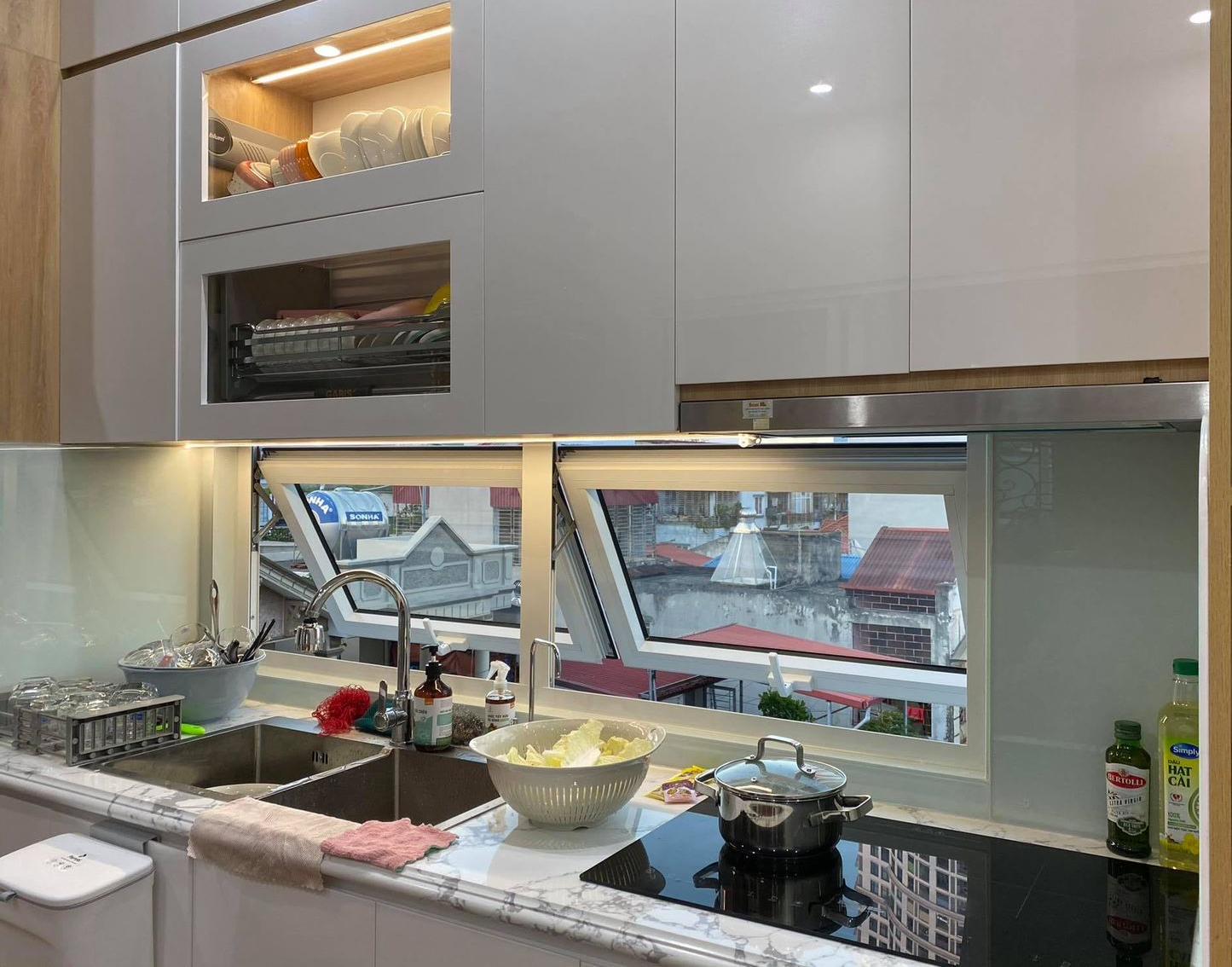 Góc bếp nhỏ trong căn hộ chung cư mini