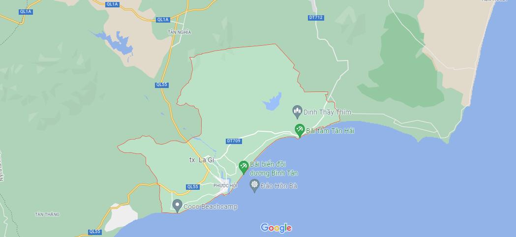 vị trí La Gi Bình Thuận