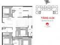 Chung cư CC Hinode 201 Minh Khai - 4 phòng, hướng N - Chỉ 42 tr/m2 (gồm VAT + nội thất). 0914911342