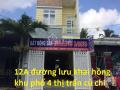 Nhà phố mặt tiền đường Lưu Khai Hồng, khu phố 4 thị trấn Củ Chi, giá 4 tỷ