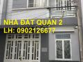 Bán nhà 1 lầu, giá 3,8 tỷ, đường Lê Văn Thịnh rẽ vào, quận 2. LH: 0902126677