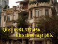 Cho thuê nhà mặt phố Trần Đại Nghĩa 230m2 mt 5m 2 tầng 78tr/th Quý mặt phố 0981337456