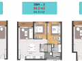 Cần chuyển nhượng căn hộ Empire City 2 phòng ngủ, diện tích 93m2, view hồ trung tâm