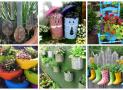 [Infographic] Khu vườn giữa phố thị làm từ chai lọ và đồ tái chế