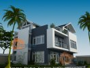 Thiết kế kiến trúc nhà biệt thự 2,5 tầng tại Hải Dương