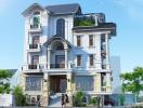Thiết kế biệt thự cổ điển 4 tầng trên diện tích 9x25m