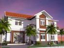 Thiết kế kiến trúc nhà vườn 2 tầng đẹp tại Văn Giang