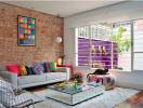 Phòng khách rực rỡ nhờ phối màu hoàn hảo