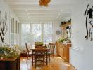Không gian nhà đẹp với sắc xanh cỏ cây