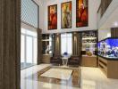 Thiết kế nhà 5 tầng hiện đại cho gia đình 3 thế hệ