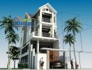 Xây dựng nhà lô phố 2 mặt tiền theo phong cách biệt thự