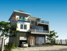Thiết kế biệt thự 3 tầng hiện đại với diện tích 120m2