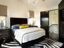 Trang trí phòng ngủ với hoạ tiết ngựa vằn
