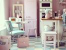 Ngây ngất với phòng bếp màu hồng siêu quyến rũ